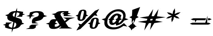 VTCBelialsBladeItalic Font OTHER CHARS