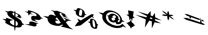 VTCBelialsBladeTricked Font OTHER CHARS