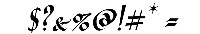 VTCGoblinHandItalic Font OTHER CHARS