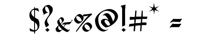 VTCGoblinHandSC Font OTHER CHARS