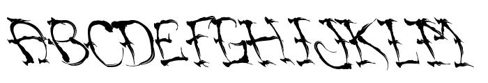 VTCSumiSlasherOnePunchDrunk Font UPPERCASE