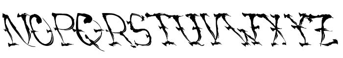 VTCSumiSlasherOnePunchDrunk Font LOWERCASE