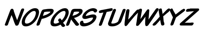 VTCSundaykomixBoldItalic Font UPPERCASE