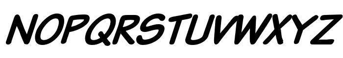 VTCSundaykomixcapsboldItalic Font UPPERCASE