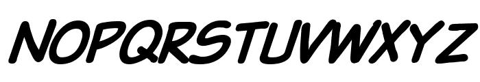 VTCSundaykomixcapsboldItalic Font LOWERCASE