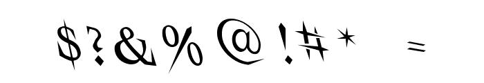 VTCSwitchbladeRomanceDrunk Font OTHER CHARS