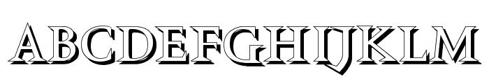 VTCSwitchbladeRomanceShadowed Font LOWERCASE