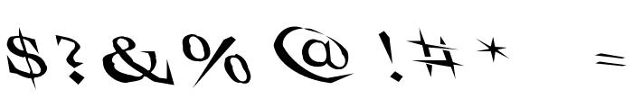 VTCSwitchbladeRomanceSloppyDrunk Font OTHER CHARS