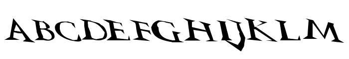 VTCSwitchbladeRomanceSloppyDrunk Font UPPERCASE
