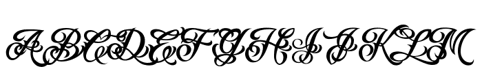 VTCTattooScriptTwo Font UPPERCASE
