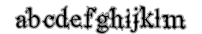 VTKS Black Label Normal Filete Font LOWERCASE