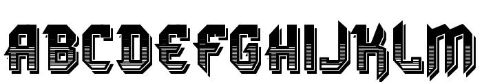 VTKS DURA 3D Font UPPERCASE