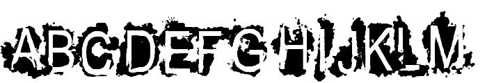 VTKS REFUSED Font UPPERCASE