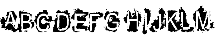 VTKS REFUSED Font LOWERCASE