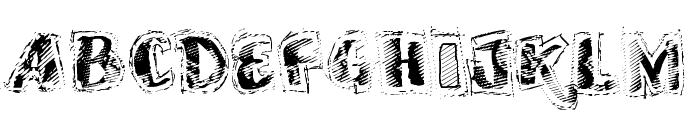 VTKS SCRUBBED Font UPPERCASE