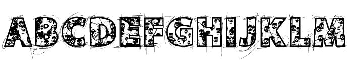VTKS SKULLS Font LOWERCASE