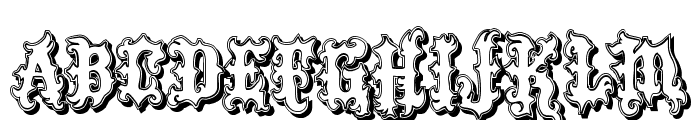VTKS Tattoo Shadow Font UPPERCASE