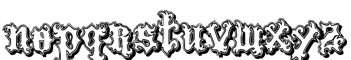 VTKS Tattoo Shadow Font LOWERCASE