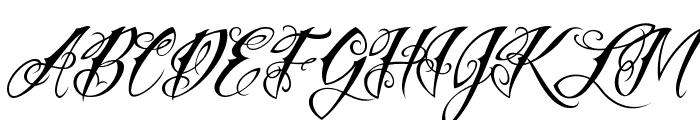 Vtc-NueTattooScript Font UPPERCASE