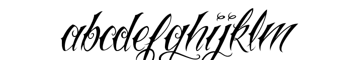 Vtc-NueTattooScript Font LOWERCASE