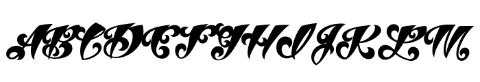 VtcTattooScriptThree Font UPPERCASE