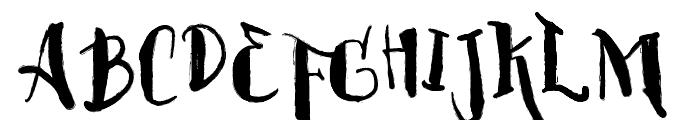 Vtks BlackHair Font UPPERCASE