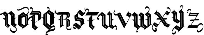 Vtks Blacqui Latter Font UPPERCASE