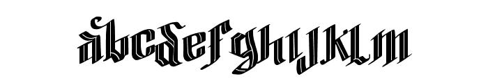Vtks Blacqui Latter Font LOWERCASE