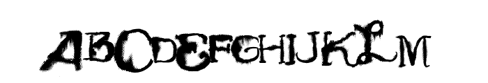 Vtks TotalFlexDisturbed Font UPPERCASE