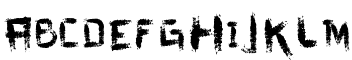 vtks dirty letters Font UPPERCASE