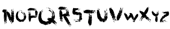 vtks dirty letters Font LOWERCASE