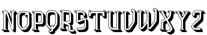 vtks solution 3d Font UPPERCASE