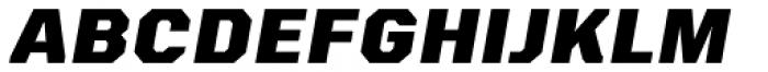 VTF Charisma Black Oblique Font UPPERCASE