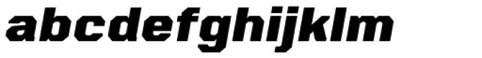 VTF Charisma Black Oblique Font LOWERCASE