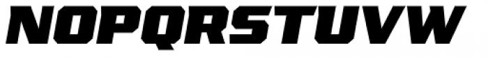 VTF League Black Oblique Font UPPERCASE