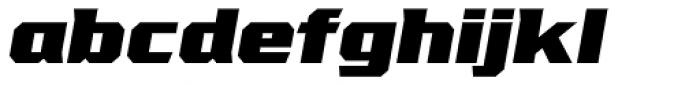 VTF League Black Oblique Font LOWERCASE