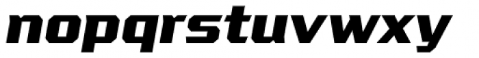 VTF League ExtraBold Oblique Font LOWERCASE