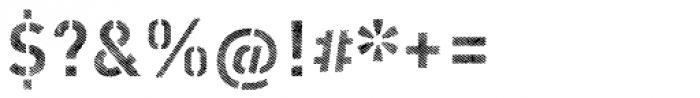 Vtg Stencil DIN Alt Fabric Light Font OTHER CHARS