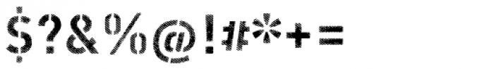 Vtg Stencil DIN Alt Fabric Font OTHER CHARS