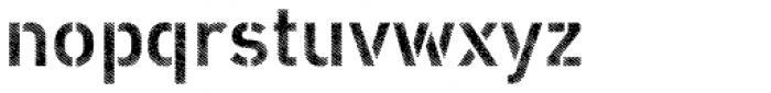 Vtg Stencil DIN Fabric Font LOWERCASE