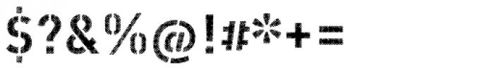 Vtg Stencil DIN Halftone Font OTHER CHARS