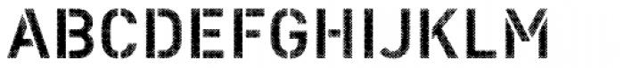 Vtg Stencil DIN Halftone Font UPPERCASE