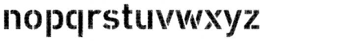 Vtg Stencil DIN Halftone Font LOWERCASE