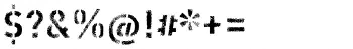 Vtg Stencil DIN Rough Light Font OTHER CHARS