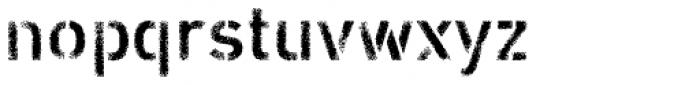 Vtg Stencil DIN Rough Light Font LOWERCASE