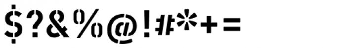 Vtg Stencil DIN Font OTHER CHARS
