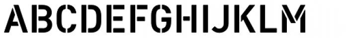 Vtg Stencil DIN Font UPPERCASE