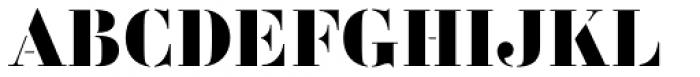 Vtg Stencil France No3 Display Font UPPERCASE