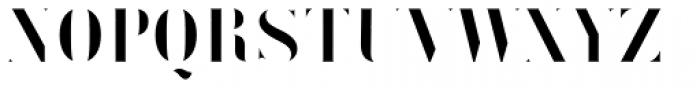 Vtg Stencil Germany No1 Inlay Font UPPERCASE