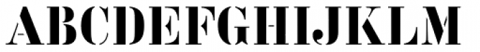 Vtg Stencil Germany No1 Font UPPERCASE